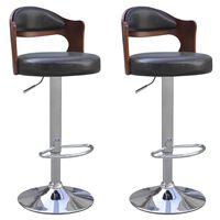 vidaXL Barske Stolice 2 kom Savijeno Drvo i Umjetna Koža