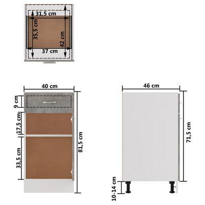 vidaXL Donji ormarić s ladicom siva boja betona 40x46x81,5 cm iverica