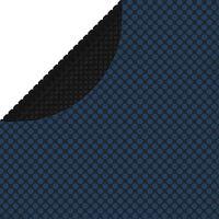 vidaXL Plutajući PE solarni pokrov za bazen 455 cm crno-plavi