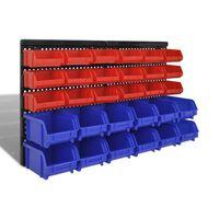 Set zidnih kutija za alat, 30 kom , crvena i plava