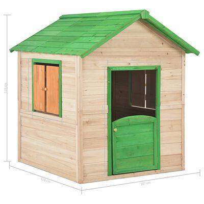 vidaXL Dječja kućica za igru od jelovine zelena