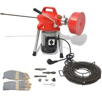 vidaXL Stroj za čišćenje cijevi 250 W 12,5 m x 16 mm 4,5 m x 9,5 mm