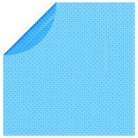 vidaXL Plutajući Okrugli PE Solarni Pokrivač za Bazen 381 cm Plavi