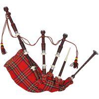 Škotske gajde s crvenim kariranim uzorkom