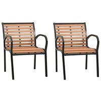 vidaXL Vrtne stolice 2 kom drvene
