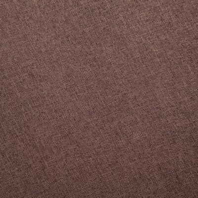 vidaXL Trosjed od tkanine smeđi