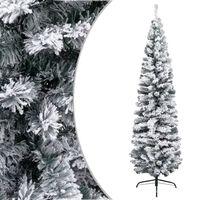 vidaXL Usko umjetno božićno drvce sa snijegom zeleno 180 cm PVC
