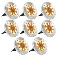 vidaXL Solarne podne svjetiljke s LED žaruljama 8 kom tople bijele