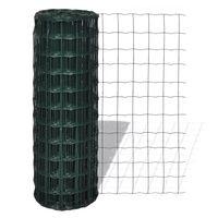 vidaXL Euro ograda čelična 25 x 1,2 m zelena