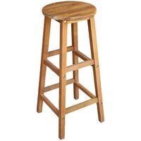 vidaXL Barske stolice od masivnog bagremovog drva 2 kom