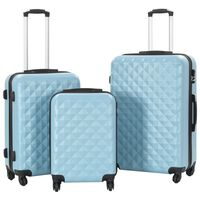 vidaXL 3-dijelni set čvrstih kovčega plavi ABS