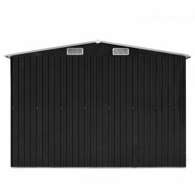 vidaXL Vrtna kućica od metala 257 x 298 x 178 cm antracit