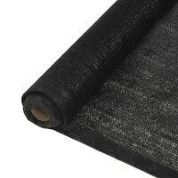 vidaXL Mreža za privatnost HDPE 1 x 25 m crna 150 g/m²