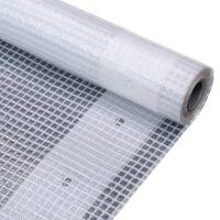 vidaXL Cerada Leno 260 g/m² 3 x 4 m bijela