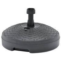 vidaXL Stalak za suncobran s pijeskom/vodom 20 L antracit plastični