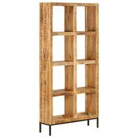 vidaXL Police za knjige od masivnog drva manga 80 x 25 x 175 cm