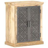 vidaXL Komoda s čeličnim vratima 60x35x75 cm od masivnog drva manga