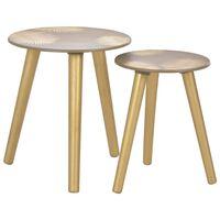 vidaXL Uklapajući bočni stolići 2 kom zlatni 40x45 cm / 30x40 cm MDF