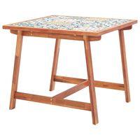 vidaXL Vrtni blagovaonski stol 88x88x75 cm od pločica i drva bagrema