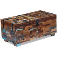vidaXL Stolić za kavu / škrinja masivno obnovljeno drvo 80x40x35 cm