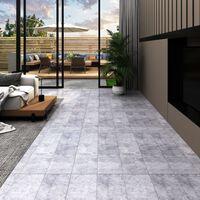 vidaXL Podne obloge od PVC-a 4,46 m² 3 mm samoljepljive cementno sive