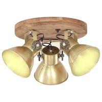 vidaXL Industrijska stropna svjetiljka 25 W mjedena 42 x 27 cm E27