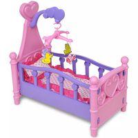 Dječja Igračka Krevet za Lutke pink + ljubičasta boja