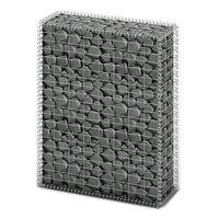 vidaXL Gabionska košara s poklopcima od pocinčane žice 100 x 80 x 30 cm
