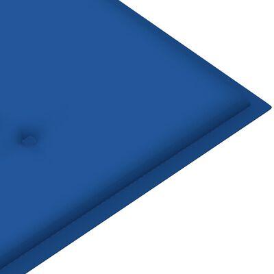 vidaXL Jastuk za vrtnu klupu kraljevski plavi 200x50x4 cm od tkanine