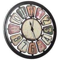 vidaXL Zidni sat raznobojni 80 cm MDF