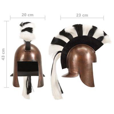 vidaXL Antikna replika grčke ratničke kacige za LARP bakrena čelična