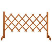 vidaXL Vrtna rešetkasta ograda narančasta 120 x 60 cm masivna jelovina