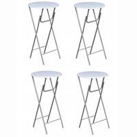 vidaXL Barski stolovi 4 kom sa stolnom pločom od MDF bijeli