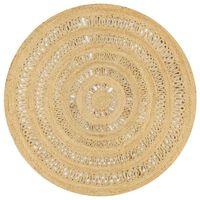 vidaXL Ručno rađeni pleteni tepih od jute 150 cm