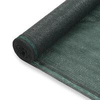 vidaXL Teniski zaslon HDPE 1,6 x 100 m zeleni