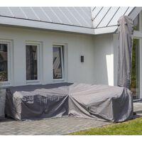 Madison navlaka za vrtnu garnituru 270 x 210 x 90 cm lijeva siva