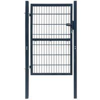 2D Vrata za Ogradu (obična) Antracit Siva 106 x 230 cm