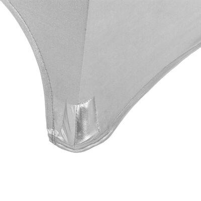 vidaXL Navlake za stol 2 kom rastezljive 80 cm srebrne