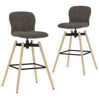 vidaXL Okretne barske stolice od tkanine 2 kom smeđe-sive