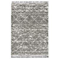 vidaXL Čupavi berberski tepih PP sivi i bež 120 x 170 cm