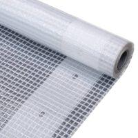 vidaXL Cerada Leno 260 g/m² 4 x 10 m bijela