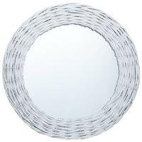 vidaXL Ogledalo od pruća 40 cm bijelo