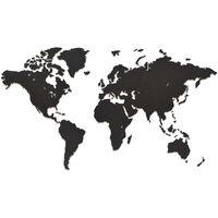 MiMi Innovations zidna drvena karta svijeta Luxury crna 90 x 54 cm