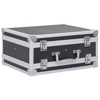 vidaXL Kutija za oružje aluminijska ABS crna