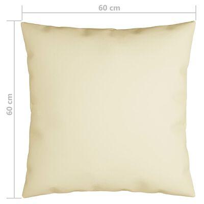 vidaXL Ukrasni jastuci 4 kom krem 60 x 60 cm od tkanine