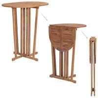 vidaXL Sklopivi barski stol od masivne tikovine 100 x 65 x 105 cm