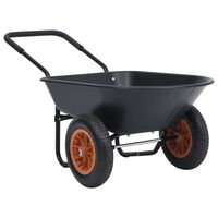 vidaXL Kolica crno-narančasta 78 L 100 kg