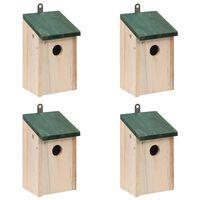 vidaXL Kućice za ptice 4 kom drvene 12 x 12 x 22 cm