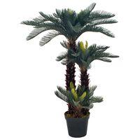vidaXL Umjetna cikas palma s posudom zelena 125 cm