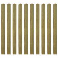 VidaXL Impregnirane letvice za ogradu 10 kom drvene 120 cm